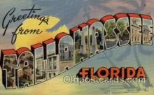 LLT100615 - Tallahassee, Florida Large Letter Town Towns Post Cards Postcards