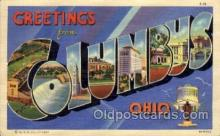 LLT100616 - Columbus, Ohio Large Letter Town Towns Post Cards Postcards