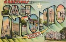 LLT100622 - San Antonio, Texas Large Letter Town Towns Post Cards Postcards