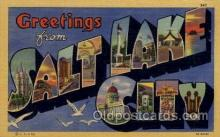 LLT100623 - Salt Lake City, Utah Large Letter Town Towns Post Cards Postcards