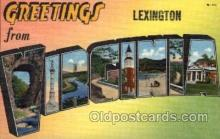 LLT100625 - Lexington, Virginia Large Letter Town Towns Post Cards Postcards