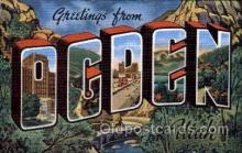 LLT100626 - Ogden, Utah Large Letter Town Towns Post Cards Postcards