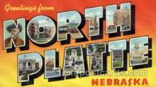 LLT100634 - North Platte, Nebraska Large Letter Town Towns Post Cards Postcards