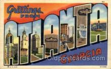 LLT100636 - Atlanta, Georgia Large Letter Town Towns Post Cards Postcards