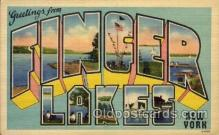 LLT100639 - Finger Lakes, New York Large Letter Town Towns Post Cards Postcards
