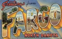 LLT100641 - Fargo, North Dakota Large Letter Town Towns Post Cards Postcards