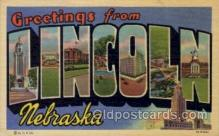 LLT100642 - Lincoln, Nebraska Large Letter Town Towns Post Cards Postcards