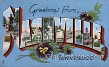 LLT100644 - Nashville, Tennessee Large Letter Town Towns Post Cards Postcards