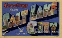 LLT100648 - Salt Lake City, Utah Large Letter Town Towns Post Cards Postcards