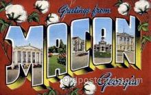 LLT100650 - Macon, Georgia Large Letter Town Towns Post Cards Postcards