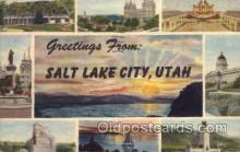 LLT100652 - Salt Lake City, Utah Large Letter Town Towns Post Cards Postcards