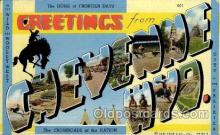 LLT100653 - Cheyenne, Wyoming Large Letter Town Towns Post Cards Postcards