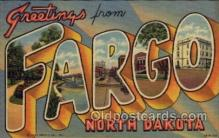 LLT100657 - Fargo, North Dakota Large Letter Town Towns Post Cards Postcards