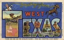 LLT100658 - West Texas Large Letter Town Towns Post Cards Postcards