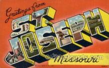 LLT100659 - St. Joseph, Missouri Large Letter Town Towns Post Cards Postcards
