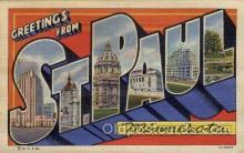 LLT100663 - St. Paul, Minnesota Large Letter Town Towns Post Cards Postcards