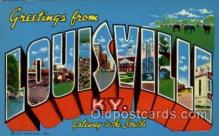 LLT100665 - Louisville, Kentucky Large Letter Town Towns Post Cards Postcards