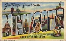 LLT100666 - Bemidji, Minnesota Large Letter Town Towns Post Cards Postcards