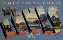 LLT100667 - St. Louis, Missouri Large Letter Town Towns Post Cards Postcards