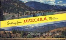 LLT100668 - Missoula, Montana Large Letter Town Towns Post Cards Postcards