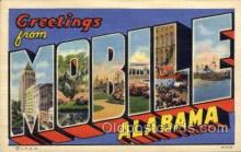 LLT100673 - Mobile, Alabama Large Letter Town Towns Post Cards Postcards