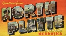 LLT100674 - North Platte, Nebraska Large Letter Town Towns Post Cards Postcards