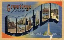 LLT100677 - Boston, Massachusetts Large Letter Town Towns Post Cards Postcards