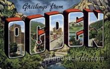 LLT100678 - Ogden, Utah Large Letter Town Towns Post Cards Postcards