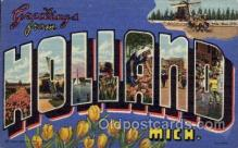 LLT100679 - Holland, Michigan Large Letter Town Towns Post Cards Postcards