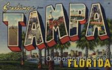 LLT100681 - Tampa, Florida Large Letter Town Towns Post Cards Postcards