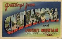 LLT100682 - Chattanooga, Tennessee Large Letter Town Towns Post Cards Postcards