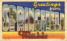 LLT100683 - Springfield, Mass Large Letter Town Towns Post Cards Postcards