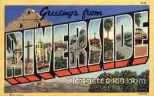 LLT100684 - Riverside, California Large Letter Town Towns Post Cards Postcards