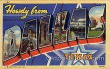 LLT100685 - Dallas, Texas Large Letter Town Towns Post Cards Postcards