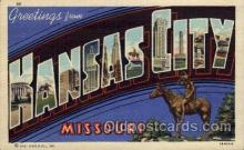 LLT100686 - Kansas City, Missouri Large Letter Town Towns Post Cards Postcards