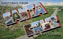 LLT100692 - Santa Cruz, California Large Letter Town Towns Post Cards Postcards