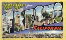 LLT100694 - Fresno, California Large Letter Town Towns Post Cards Postcards