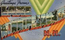 LLT100696 - Lake Winnipesaukee, New  Hapshire Large Letter Town Towns Post Cards Postcards