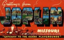 LLT100698 - Joplin, Missouri Large Letter Town Towns Post Cards Postcards