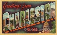 LLT100703 - Charleston, West Virginia Large Letter Town Towns Post Cards Postcards