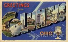 LLT100705 - Columbus, Ohio Large Letter Town Towns Post Cards Postcards