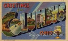 LLT100706 - Columbus, Ohio Large Letter Town Towns Post Cards Postcards