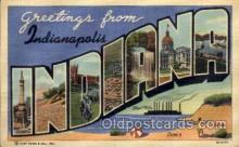 LLT100707 - Indianapolis, Indiana Large Letter Town Towns Post Cards Postcards