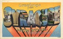 LLT100708 - Syracuse, New York Large Letter Town Towns Post Cards Postcards