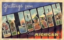 LLT100711 - St. Joseph, Michigan Large Letter Town Towns Post Cards Postcards