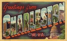 LLT100712 - Charleston, West Virginia Large Letter Town Towns Post Cards Postcards