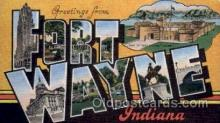 LLT100713 - Fort Wayne, Indiana Large Letter Town Towns Post Cards Postcards
