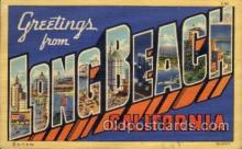 LLT100719 - Long Beach, California Large Letter Town Towns Post Cards Postcards
