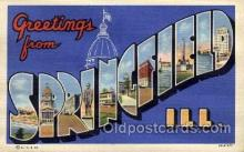 LLT100721 - Springfield, Illinois Large Letter Town Towns Post Cards Postcards