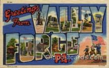 LLT100722 - Valley Forge, Pennsylvania Large Letter Town Towns Post Cards Postcards